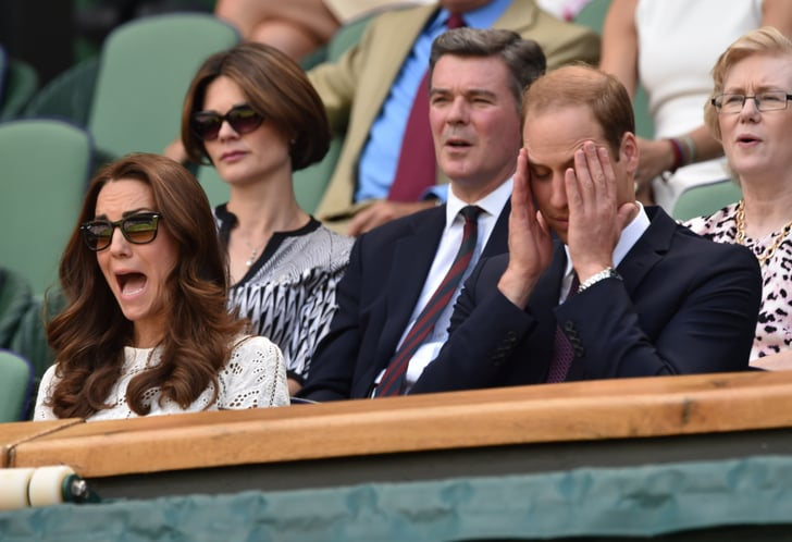 Kate Middleton and Prince William got emotional while watching Wimbledon in London on Wednesday.