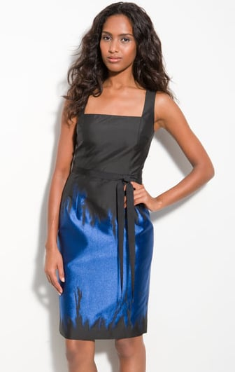 Teri Jon Colorblock Taffeta Sheath Dress ($225, originally $500)