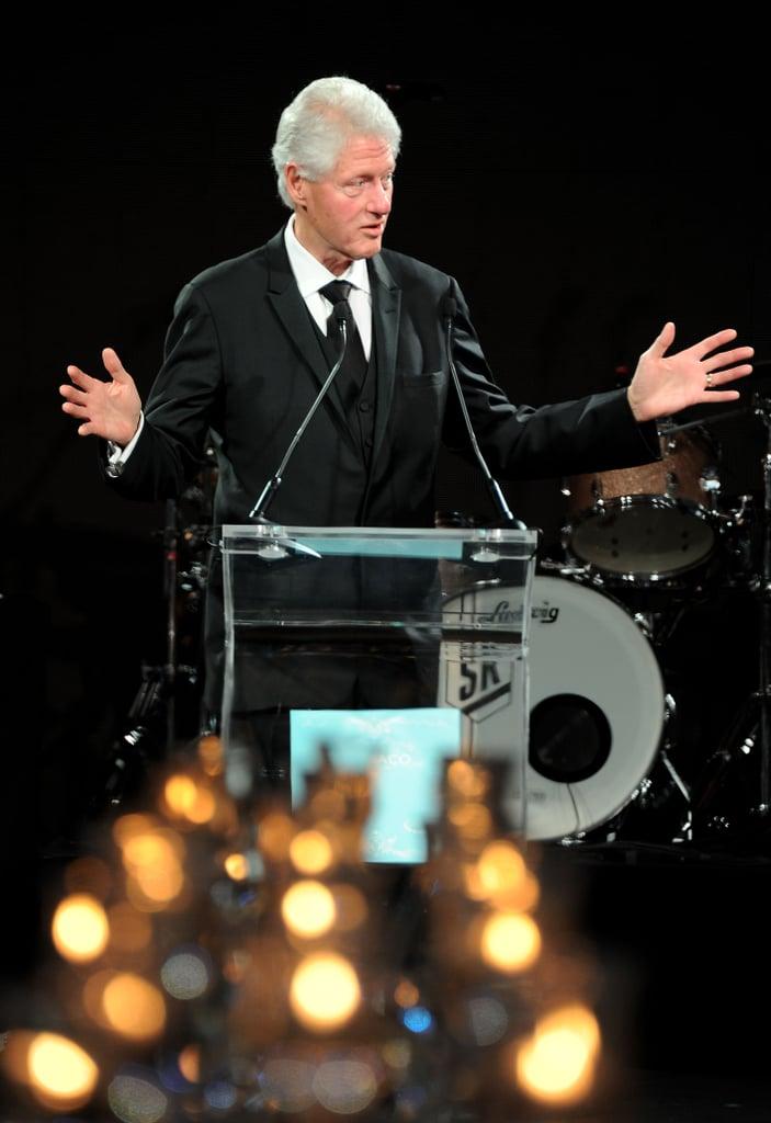 Bill Clinton spoke at the Nights in Monaco Gala Fundraiser.