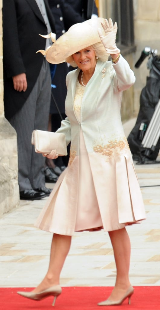 Camilla Parker Bowles arrived at Westminster Abbey for Prince William and Kate Middleton's wedding in April 2011.