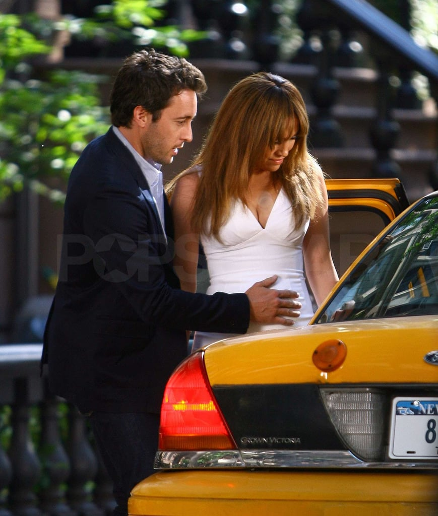 Photos of Jennifer Lopez on Set