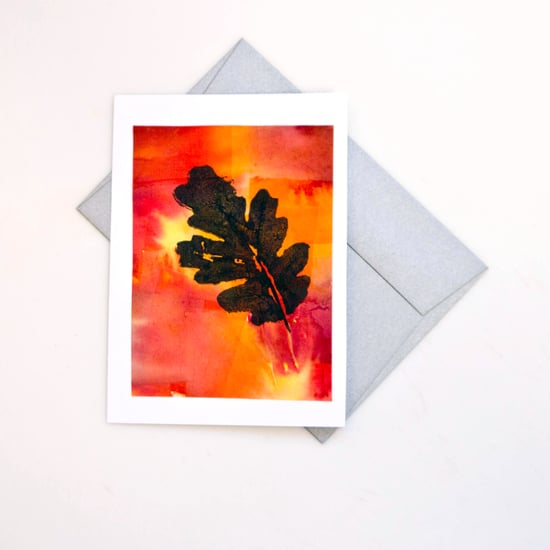 Leaf Print Fall Cards