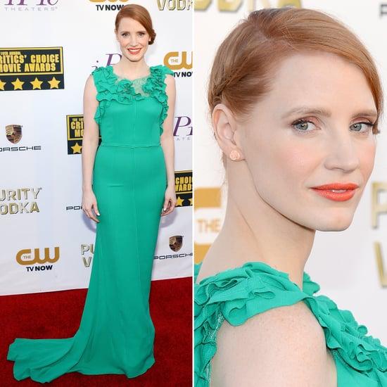 Jessica Chastain's Dress at Critics' Choice Awards 2014