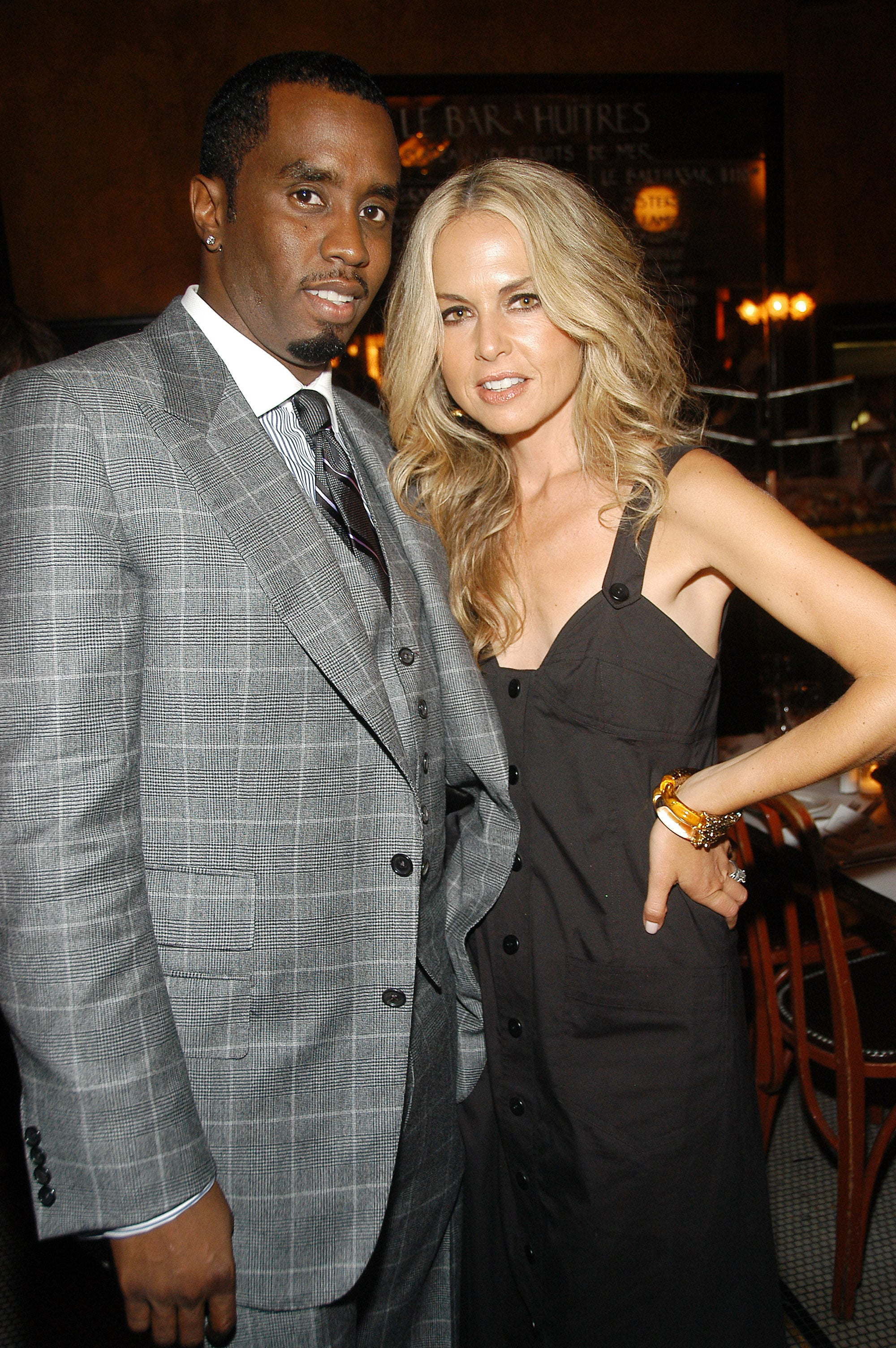 Diddy and Rachel Zoe attended a dinner party for Zac Posen in February 2008.