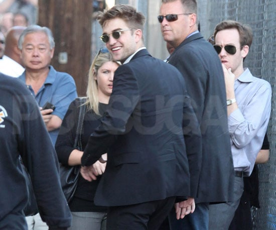 Slide Picture of Robert Pattinson Arriving at Jimmy Kimmel Live in LA