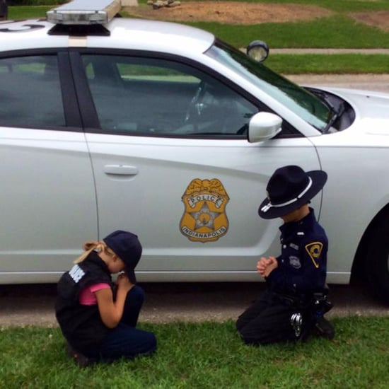 Kids Praying For Police Officer Dad's Safety