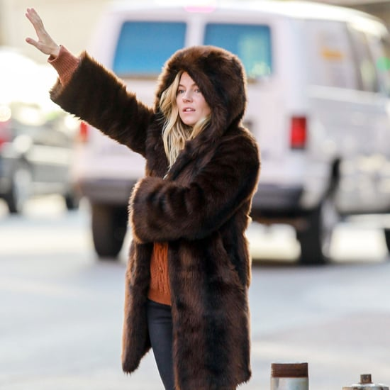 Sienna Miller Wearing a Fur Jacket in NYC | Pictures