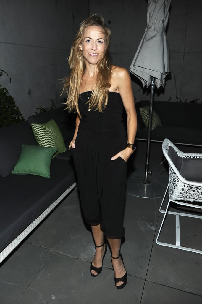 Sheryl Crow's perfected a relaxed take on the style with a strapless and slightly cropped silhouette — perfect for showing off ankle-strap heels.