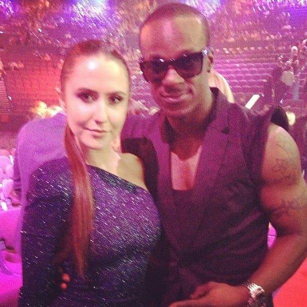 Timomatic and Talia Fowler made a hot pair at the ARIAs. Source: Instagram user omaticvision