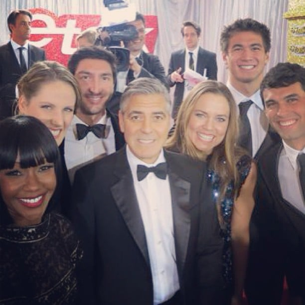 George Clooney posed with a group of Olympic athletes. Source: Instagram user nataliecoughlin