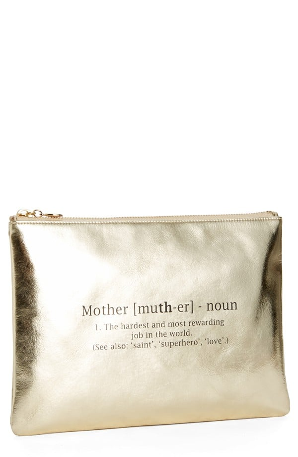 Halogen Leather Clutch