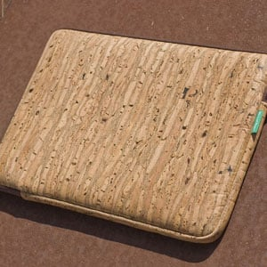 Laptop, iPad, and Kindle Cases Made of Cork