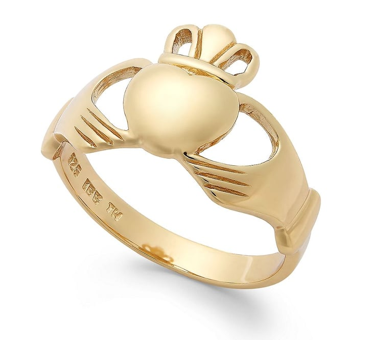 Average Cost Of Engagement Ring: Traditional Claddagh Ring: $40