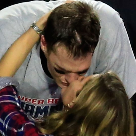 Tom Brady Kisses Gisele Bundchen at Super Bowl 2015