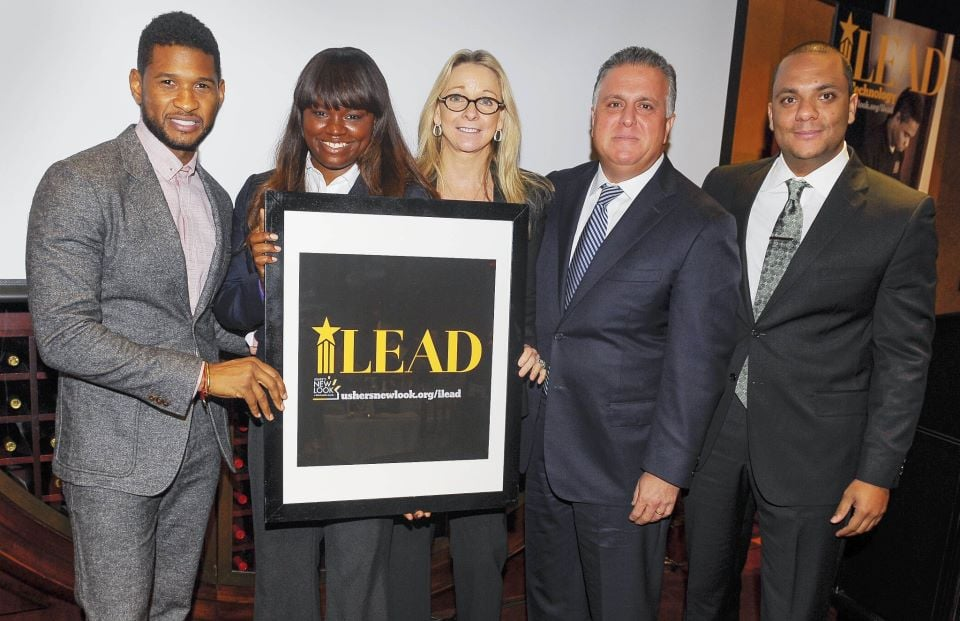 Usher celebrated a new opportunity for his foundation. Source: Facebook user Usher's New Look Foundation