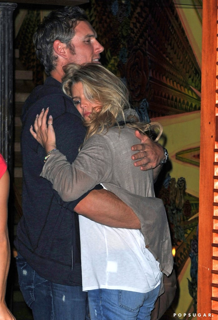 The couple shared a warm embrace while at dinner in NYC back in July 2010.