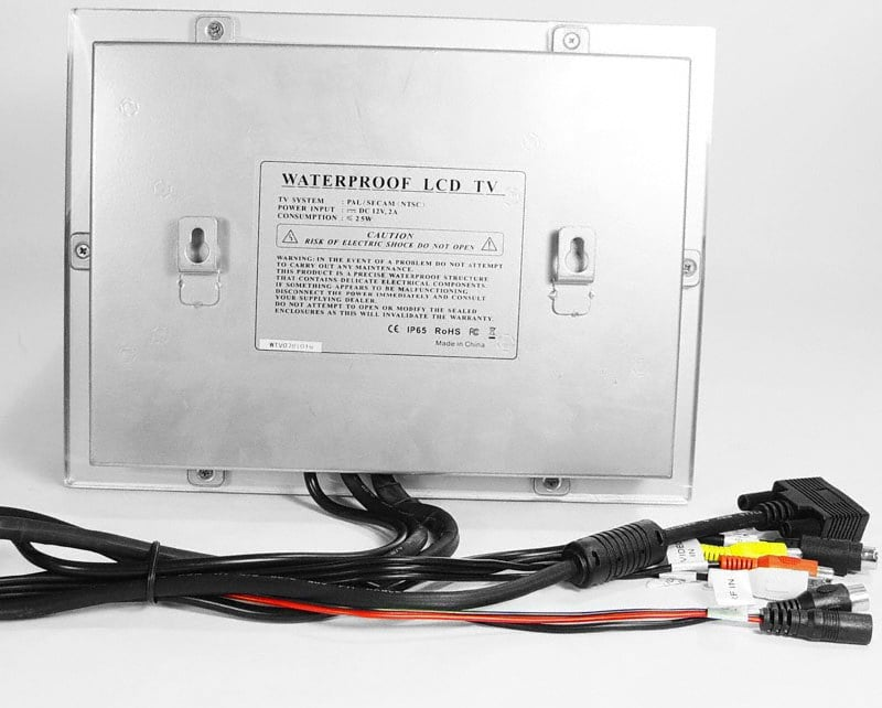 Waterproof LCD Monitor With Remote
