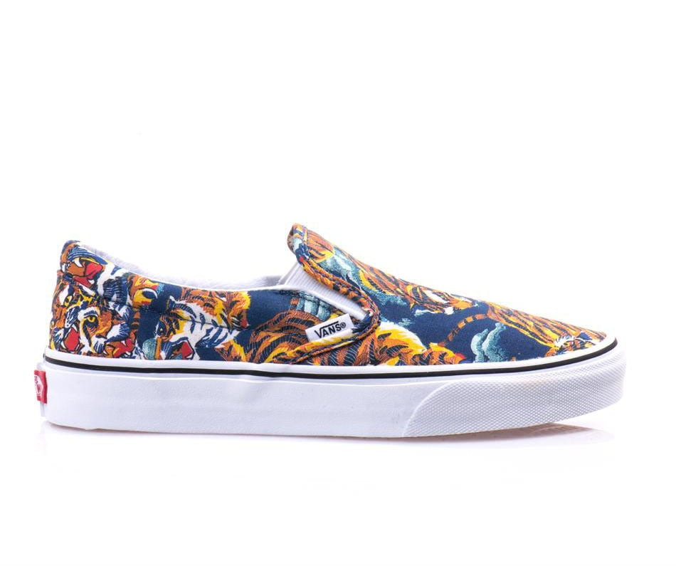 Kenzo's fabulous flying-tiger print needs space in your closet. Our preferred style vehicle? These easy Vans ($110).