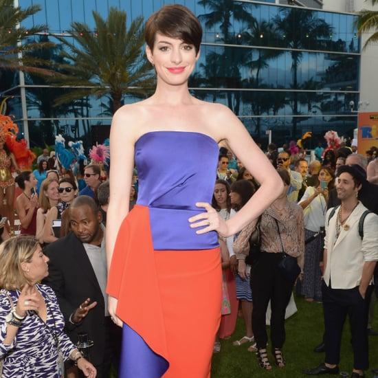 Anne Hathaway Shares Stars' Yearbook Photos on Instagram