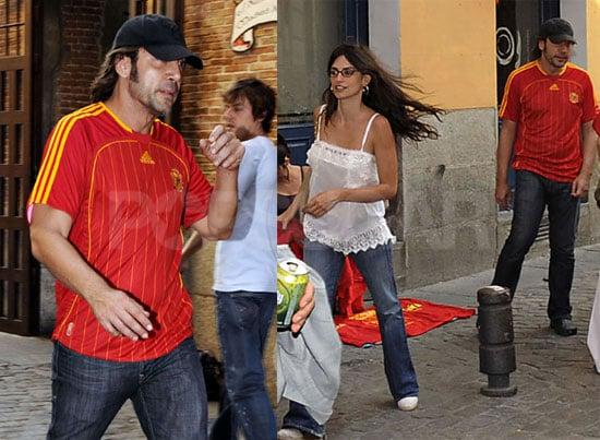 Photos of Penelope Cruz and Javier Bardem Celebrating Spain Winning 2008 Euro Cup