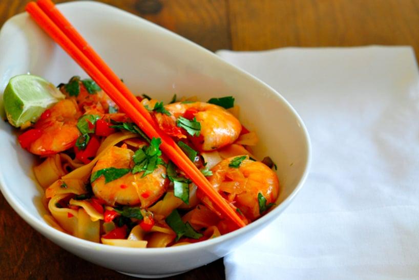Shrimp Stir-Fry With Rice Noodles
