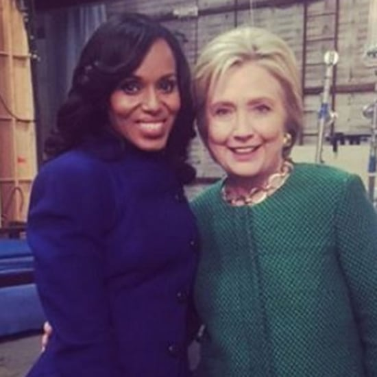 Hillary Clinton Visits Set of Scandal February 2016