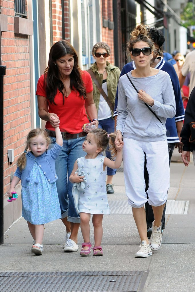 Sarah Jessica Parker had a day out with her twins Loretta Broderick and Tabitha Broderick in NYC.