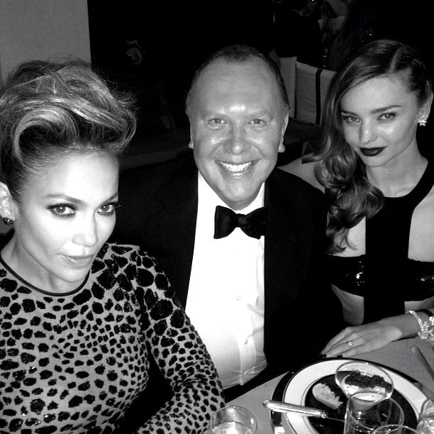Michael Kors posed with his girls for the night, Jennifer Lopez and Miranda Kerr. Source: Instagram user michaelkors