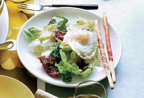 Fast & Easy Dinner: Fried-Egg Caesar Salad
