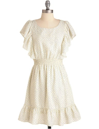 The most charming of LWDs to finish with a pair of equally sweet sandals.  Modcloth Dazzling Dipper Dress ($48)