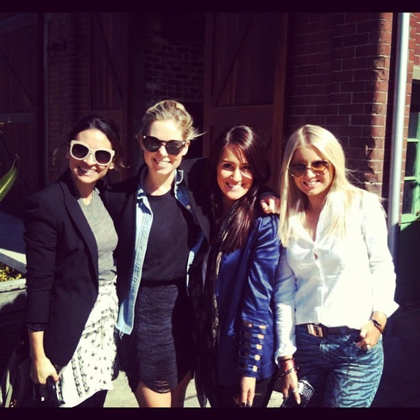 Publisher Marisa and FabSugar editor Ali (left) caught up with the girls from PR powerhouse Sweaty Betty for lunch.