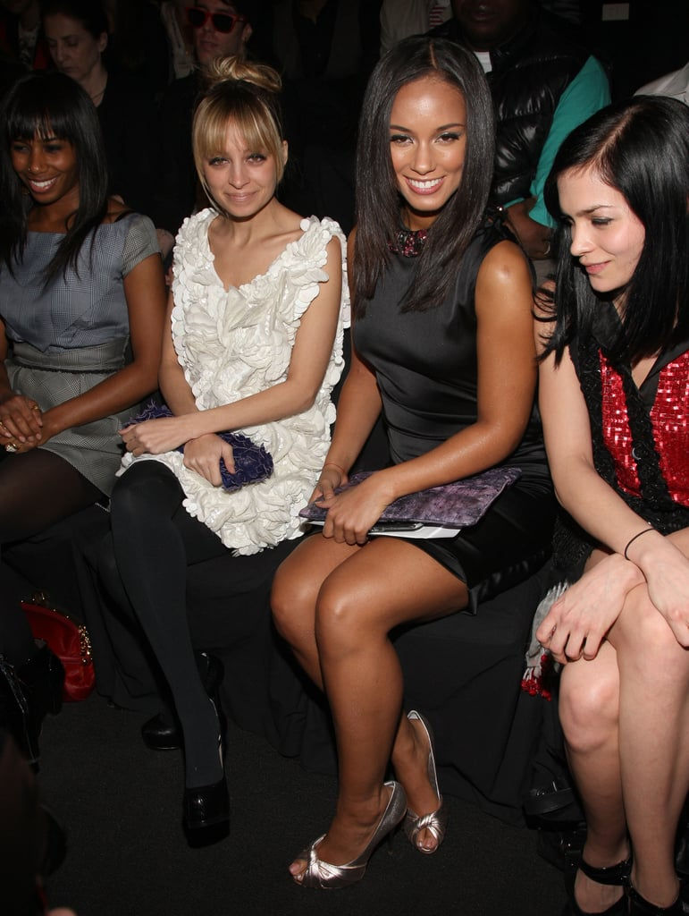 Nicole Richie and Alicia Keys were all smiles as they took their seats for Zac Posen's September 2009 show.
