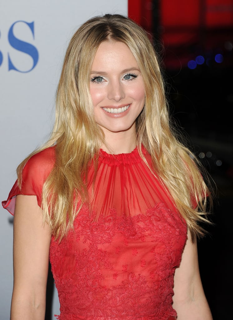 Kristen Bell had a sheer red dress on for the People's Choice Awards.