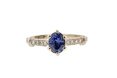 This vintage sapphire ring ($4,200) looks like something your grandma got from her grandma, and now it's hit precious family heirloom status.