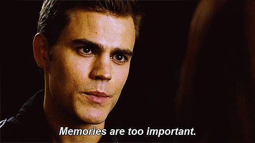 Can we also talk about how sentimental he is? My guess is he never really stopped loving Katherine (or Elena).