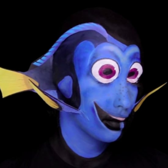 Finding Dory Makeup Transformation
