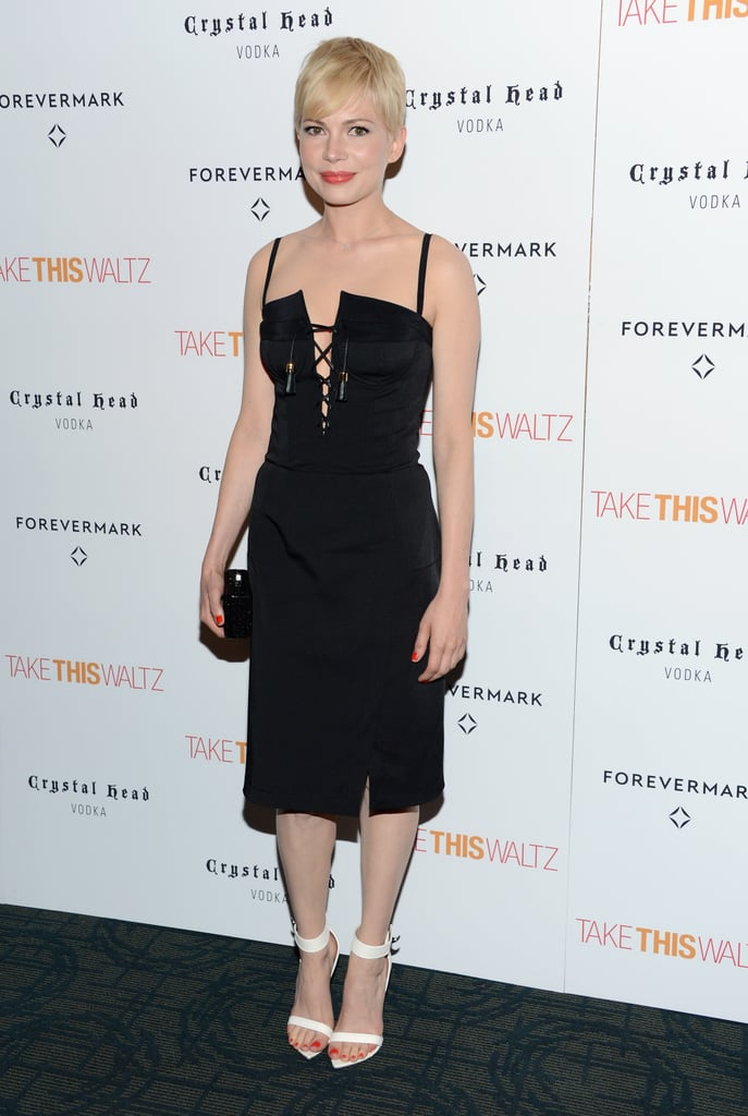Michelle Williams wore an LBD in NYC.