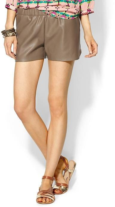 For a dressier pair that will work for nighttime outings, try these Sabine vegan leather jogger shorts($49).