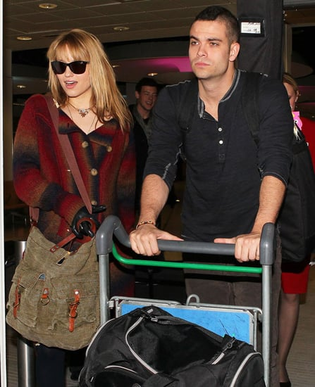 Pictures of the Glee Cast Arriving at the Airport in London Ahead of The X Factor Appearance