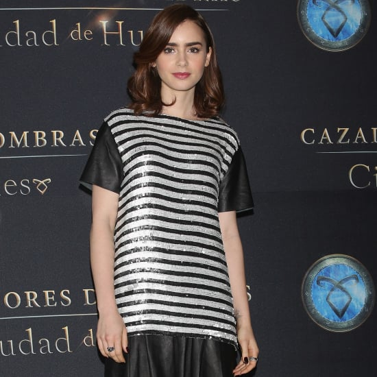 Lily Collins Mortal Instruments Red Carpet Dresses