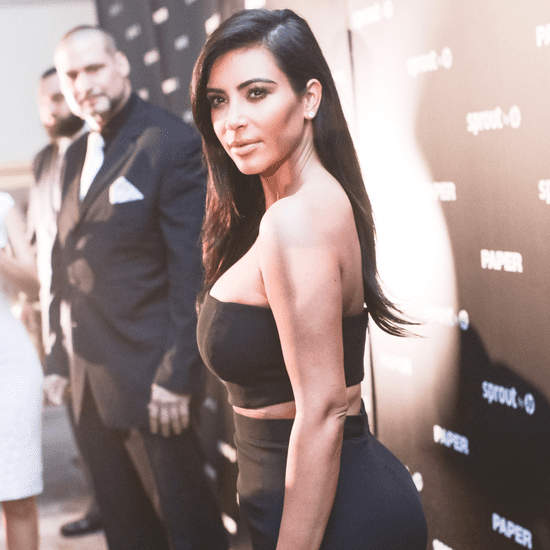 Kim Kardashian Wearing a Crop Top at Paper Magazine Party