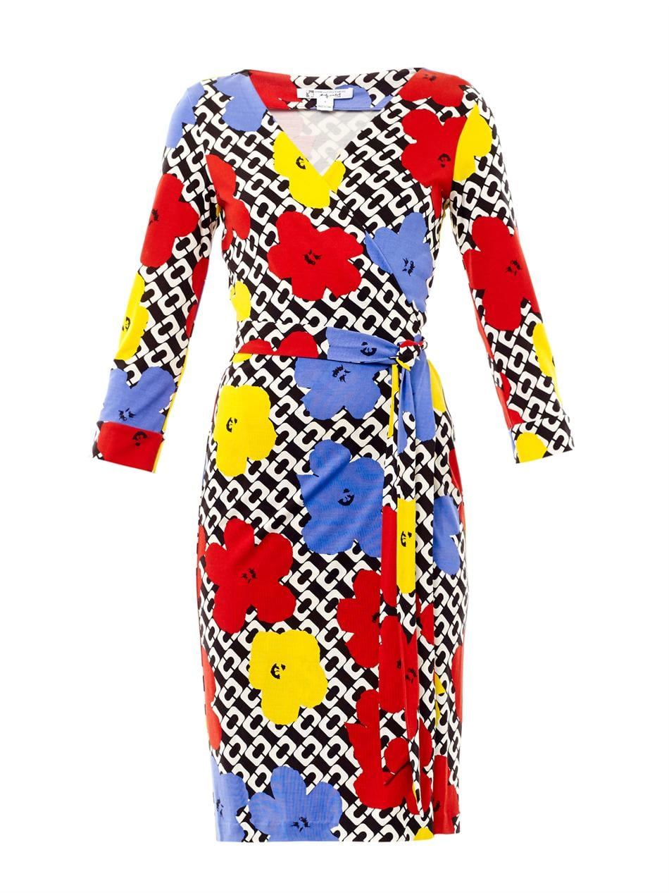 Diane von Furstenberg Julian Pop Wrap Dress