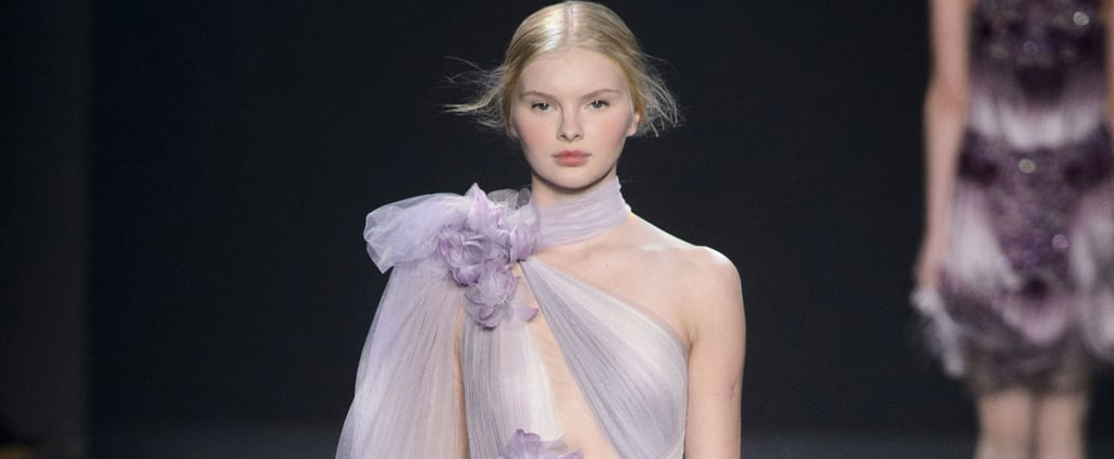 The Floral Gowns at Marchesa Were So Pretty, We Almost Thought the Roses Were Real