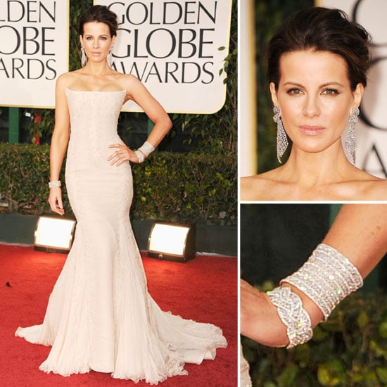 Kate Beckinsale in Roberto Cavalli at Golden Globes 2012