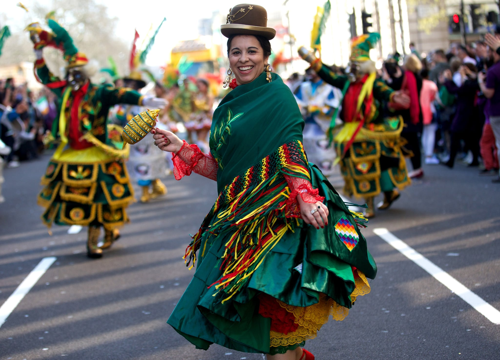 In London, people got in the Irish spirit with a festive parade.