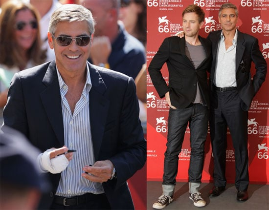 Photos of Ewan McGregor and George Clooney Promoting The Men Who Stare at Goats at the 2009 Venice Film Festival