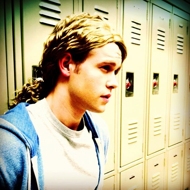 """Chord Overstreet shared his """"'80s hairband album cover photo"""". Source: Instagram user chordover"""