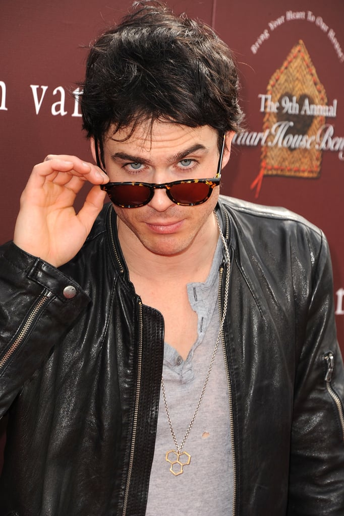 Ian Somerhalder hit the red carpet at the John Varvatos Stuart House benefit.