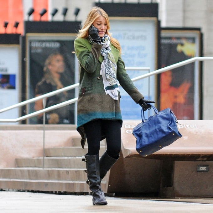 Blake Lively made a funny face while shooting Gossip Girl.
