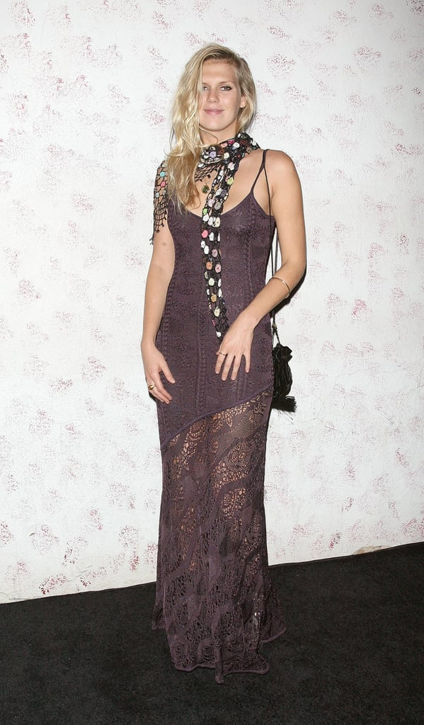 Alexandra Richards chose a sheer lacy number at Barneys New York fete in honor of Carine Roitfeld.